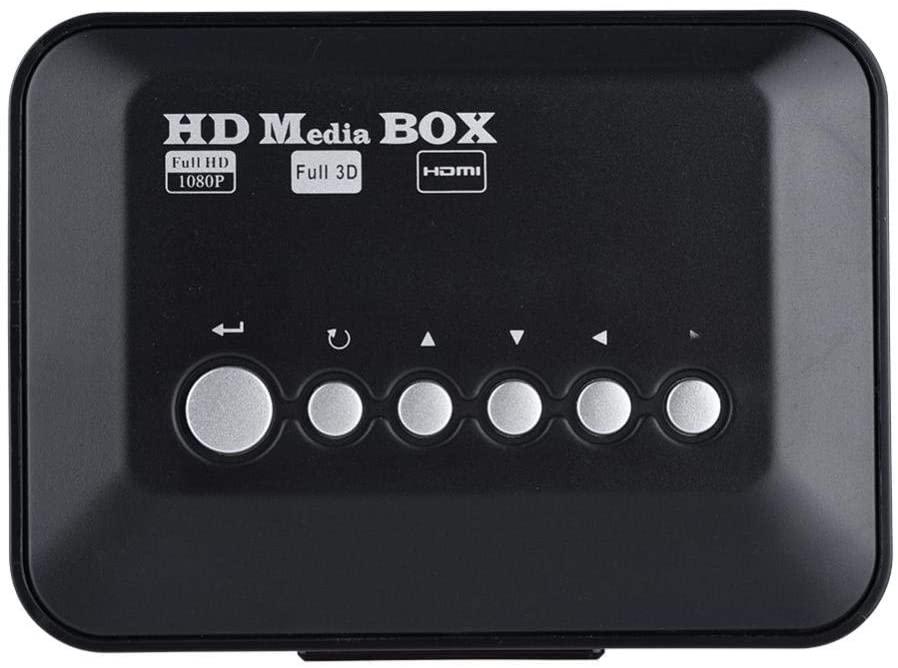 Zopsc Mini 1080P HD HDMI Audio Video Media Player Box with IR Remote Control, Strong Compatibility, Super Remote Control Receiving Module etc. (Black)(US Plug)