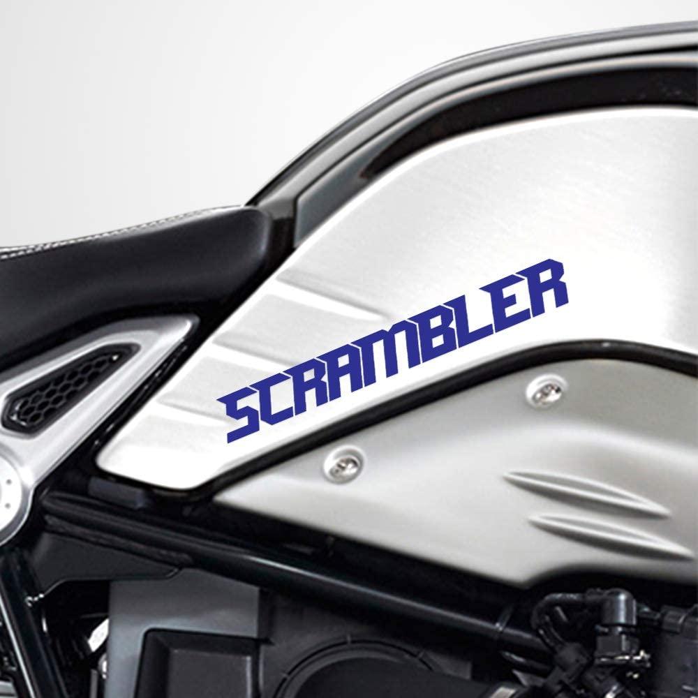 Gloss Blue Motorcycle Superbike Sticker Decal Pack Waterproof for Ducati Scrambler