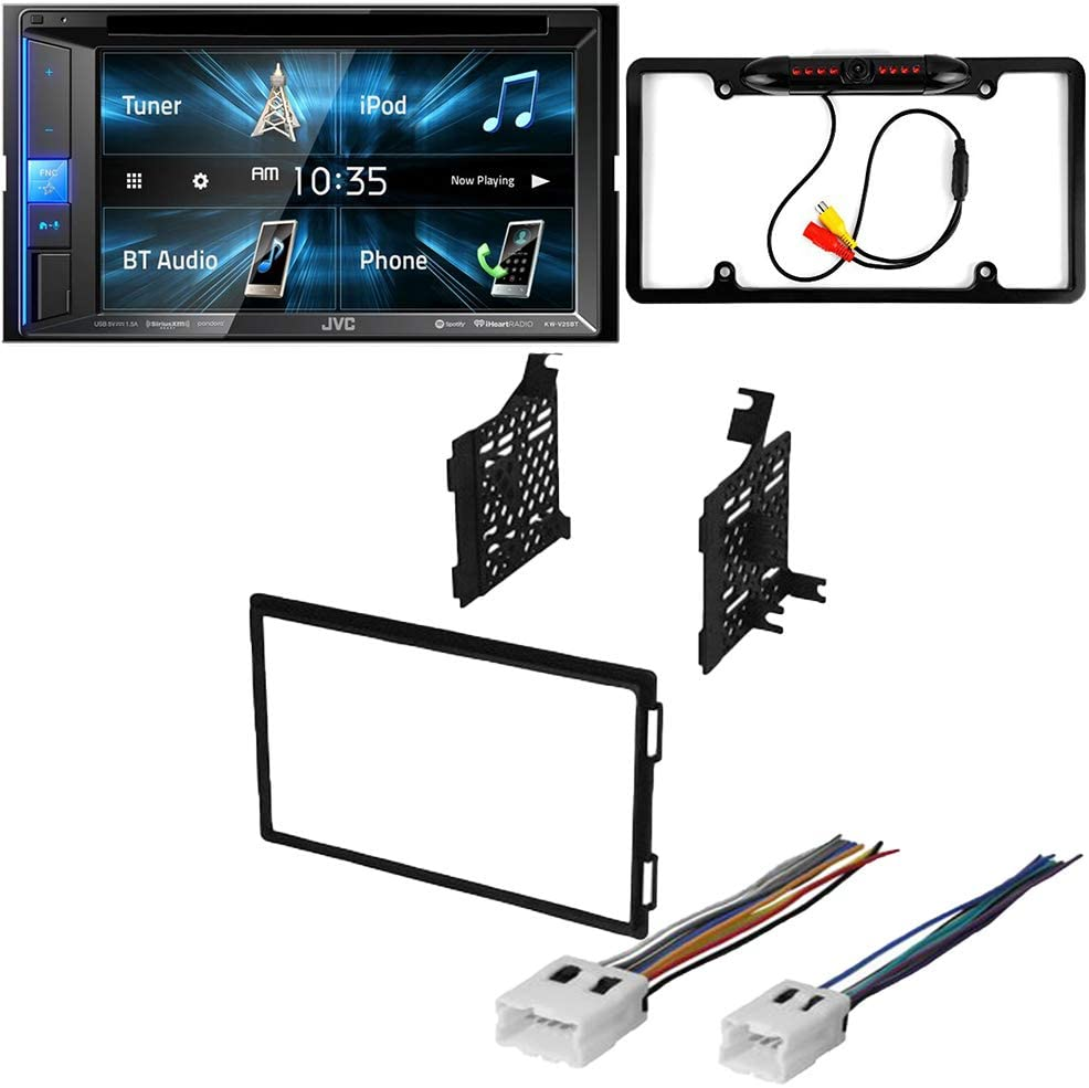 CACHÉ KIT2899 Bundle with Complete Car Stereo Installation Kit with Receiver – Compatible with 2004–2007 Nissan Titan – Bluetooth Touchscreen, Backup Camera, Double Din Dash Mounting Kit (4Item)