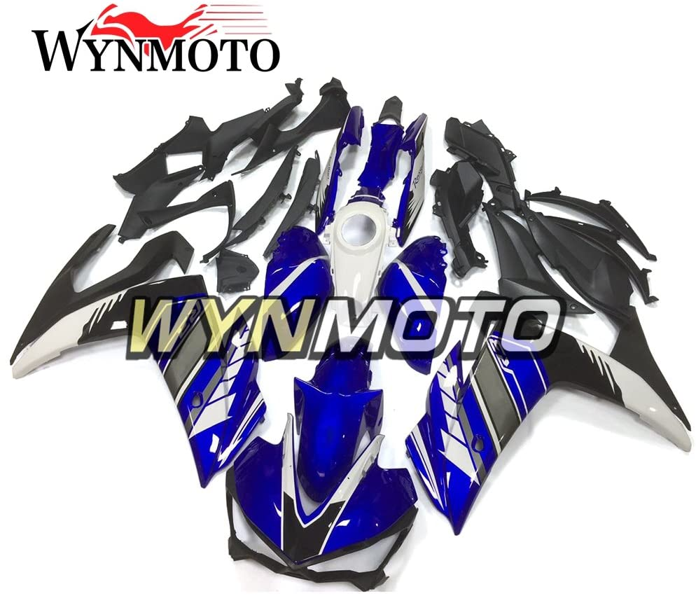 WYNMOTO ABS Plastic Injection Gloss Blue Grey Motorcycle Fairing Kits For Yamaha R25 R3 15 16 2015 2016 Sportbike Cowlings