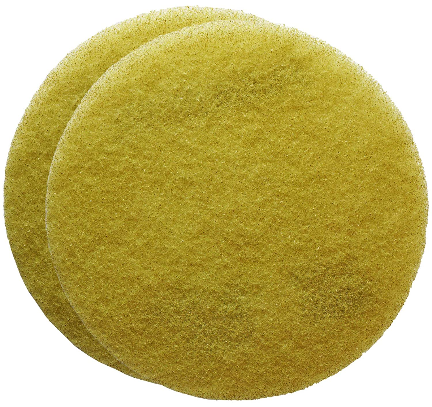 FLEXIS KGS Floor Cleaning & polishing Pads 11 inch grit 1500 - Yellow (2 Pack)