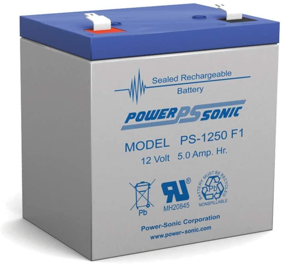 Powersonic 12V 5Ah Sealed Lead Acid (SLA) Battery for Ademco Alarm