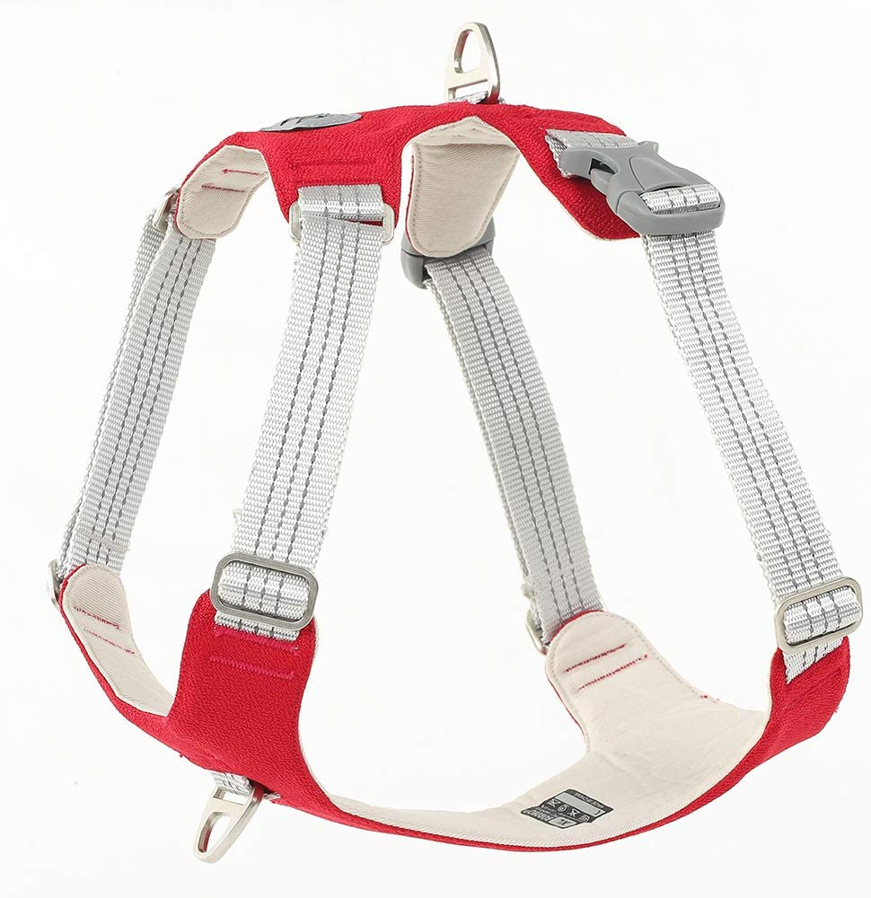 Dog Harness Heavy Duty 3M Reflective Oxford Puppy Vest Non Pulling with 2 Leash Clips