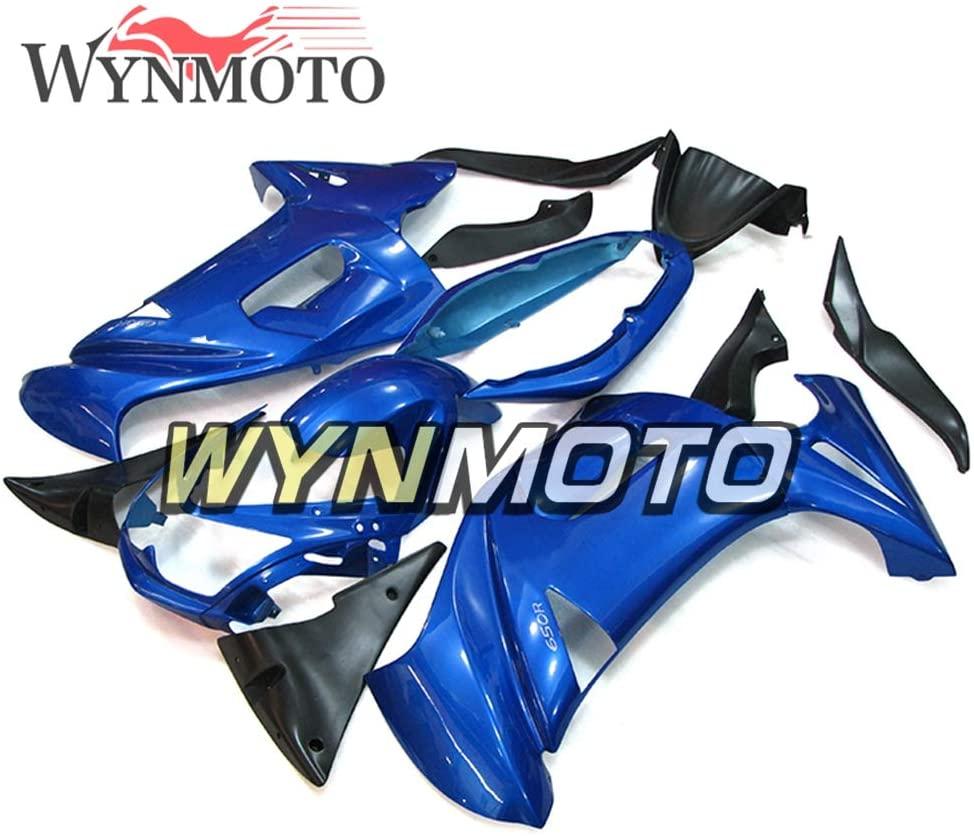 WYNMOTO ABS Plastic Motorcycle Fairing Kit For Ninja 650r ER-6F 2006 2007 2008 Pure Pearl Blue Sportbike Bodywork