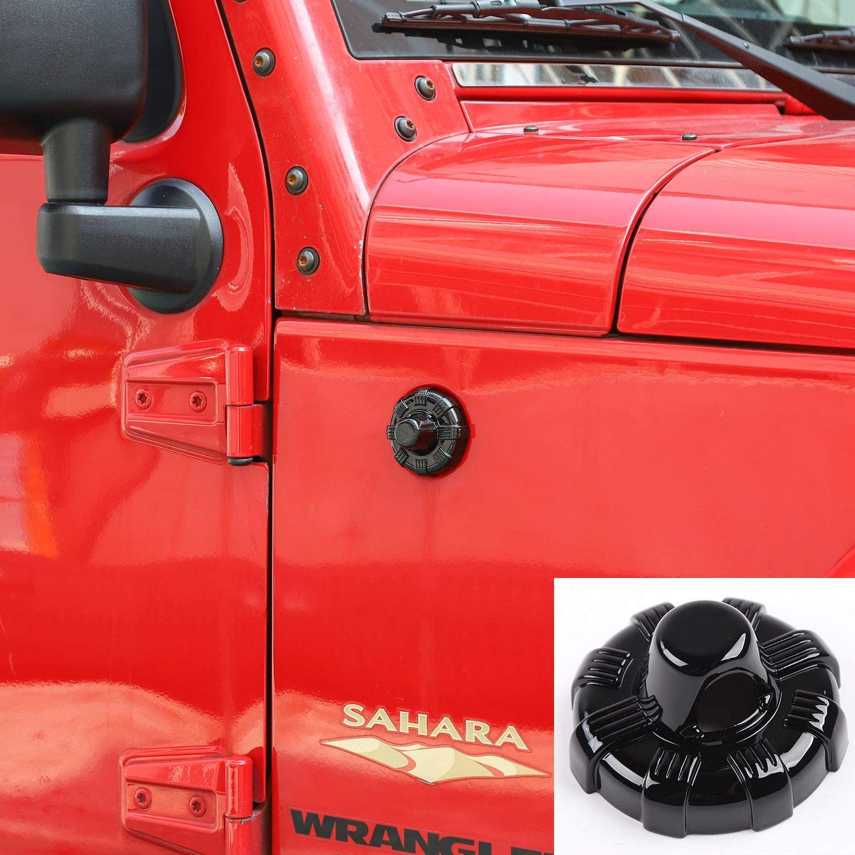 Radio Antenna Base Cover Trim for 2007-2020 Jeep Wrangler JK JKU JL JLU Gladiator JT (Carbon Fiber Pattern)