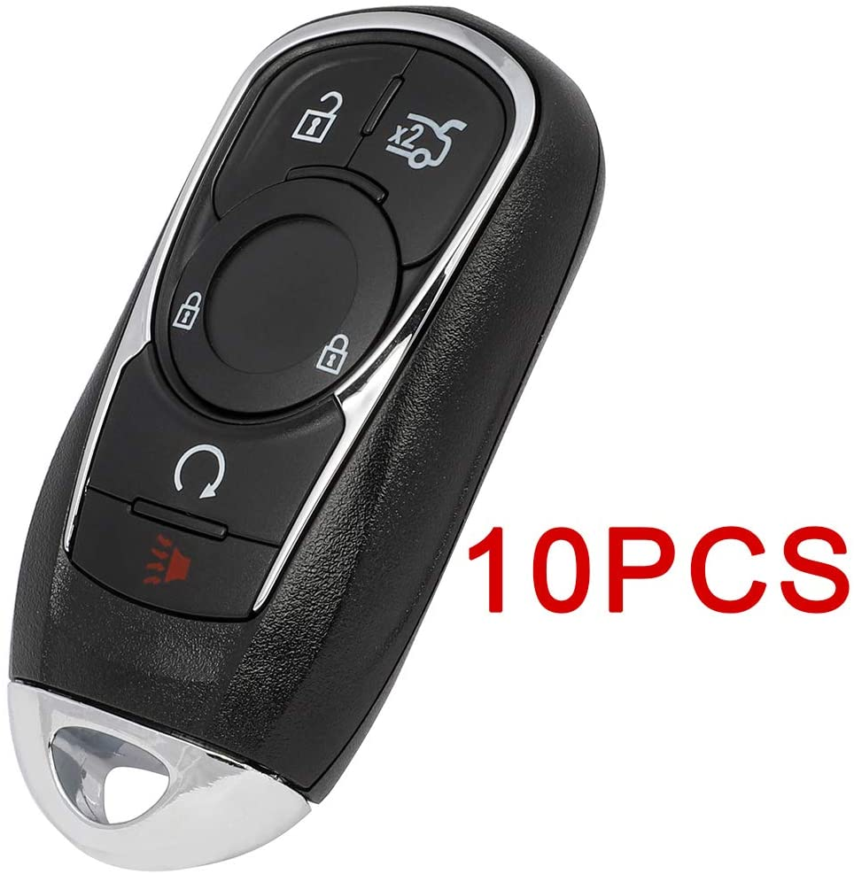 TUPARTS 10 PCS Keyless Entry Remote Car Key Fob 433 MHZ Compatible for 17 18 19 for B-uick Lacrosse Regal Sportback Regal TourX HYQ4EA 13508414