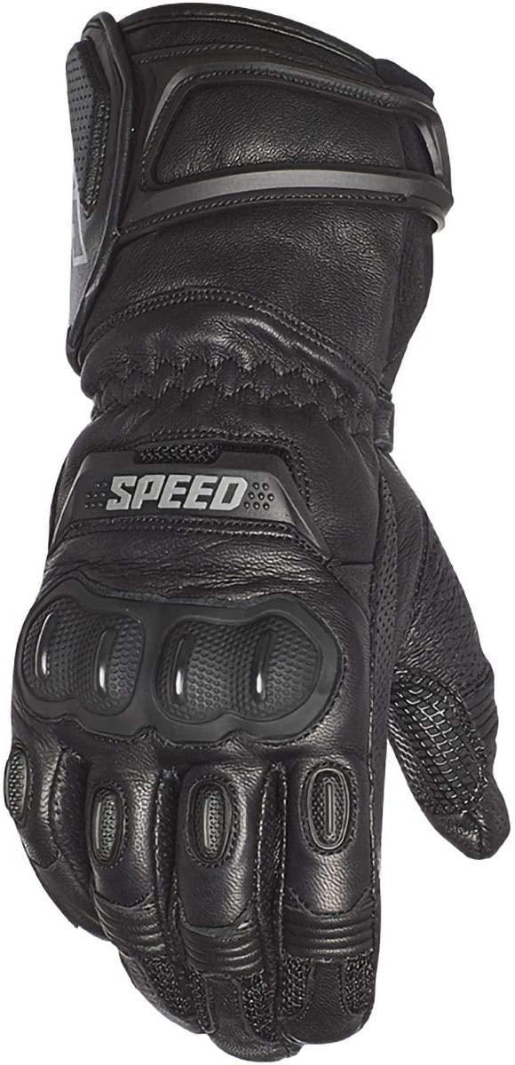 Speed and Strength Men's Revolt Leather Gloves (Black, Medium), 2 Pack