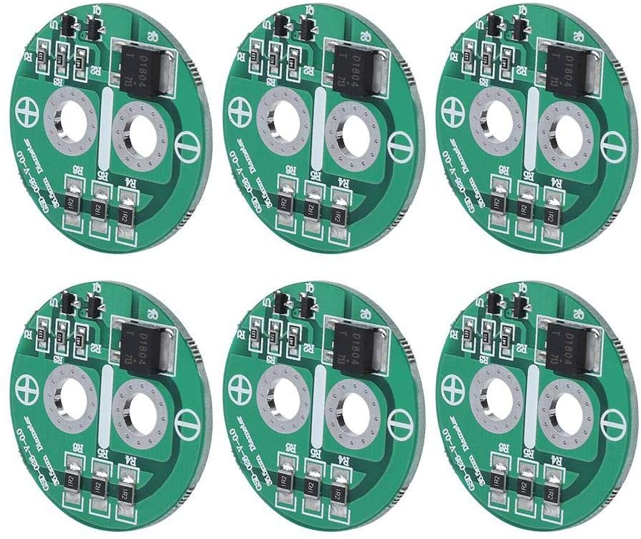 Diyeeni 6Pcs Super Capacitor Protection Board, 2.5V Super Farad Capacitor Board Protection Board Module, Protects Capacitor from Exceeding The Limiting Voltag