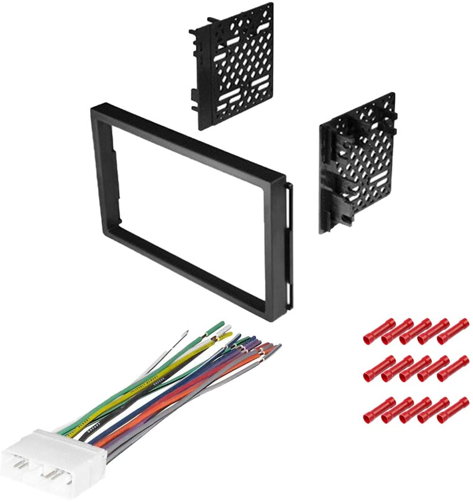 CACHÉ KIT520 Bundle with Car Stereo Installation Kit for 2004 – 2008 Chevrolet Aveo – in Dash Mounting Kit, Harness for Double Din Radio Receiver (3 Item)
