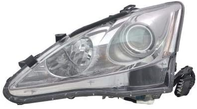 Go-Parts - for 2009 - 2010 Lexus IS350 Front Headlight Assembly Housing / Lens / Cover - Left (Driver) Side 81170-53400 LX2518125 Replacement