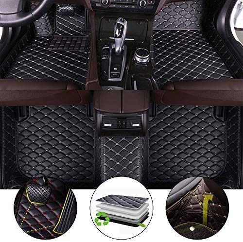 All Weather Floor Mat for Honda CRV Ⅲ 2007-2011 Full Protection Car Accessories Black & Beige 3 Piece Set