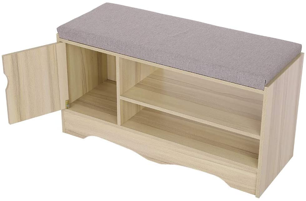 Hallway Change Shoe Bench with Drawers,Heberry 2-Tier Home Shoe Stool Cabinet Shoe Storage Organize Shoe Rack,Fits Well in Entryway, Foyer, Bedroom