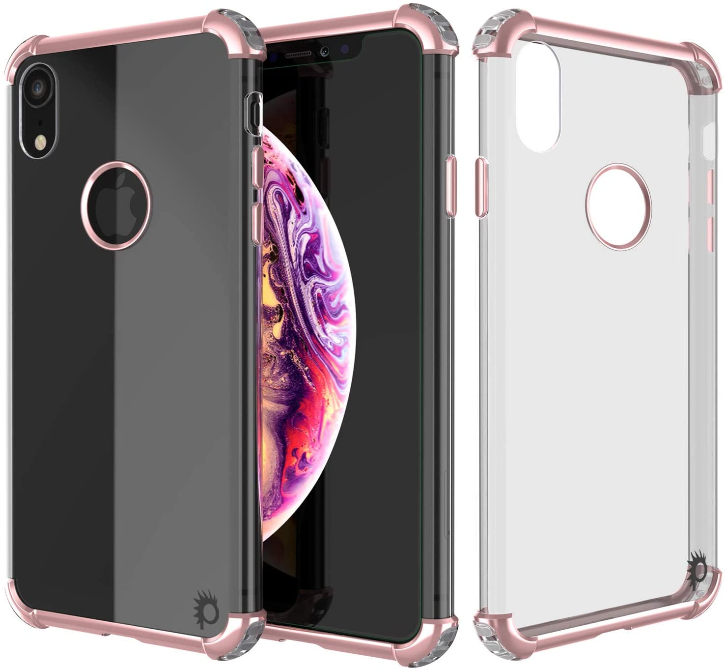 iPhone XR Case, Punkcase [Blaze Series] Protective Cover W/PunkShield Screen Protector [Shockproof] [Slim Fit] Compatible for Apple iPhone XR [Rose Gold]