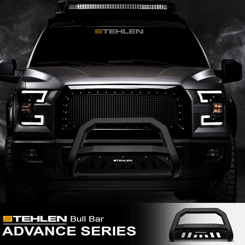 Stehlen 714937184015 Advance Series Bull Bar - Matte Black For 2007-2020 Toyota Tundra / 2008-2020 Sequoia