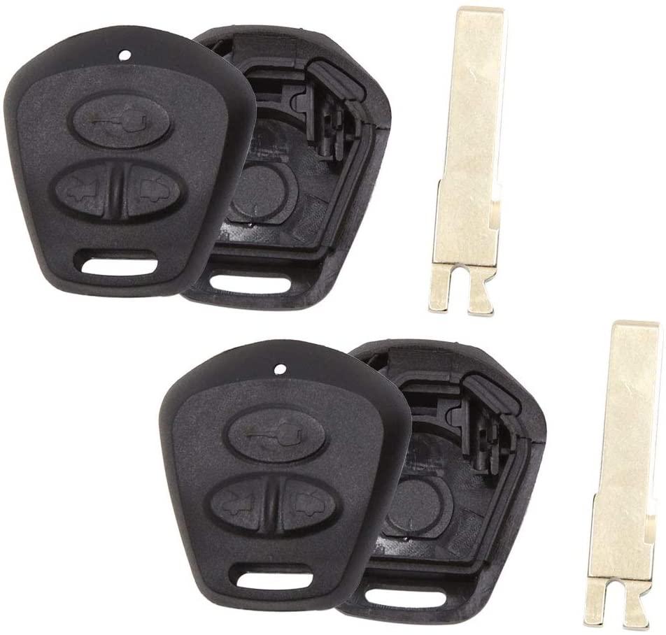 uxcell 2pcs 3 Button Uncut Remote Key Fob Case Shell Replacement for Porsche Cayenne