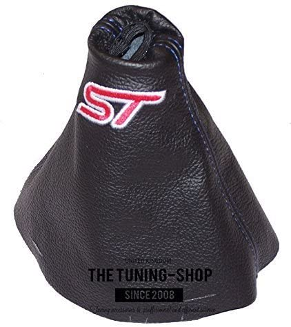 The Tuning-Shop Ltd For Ford Fiesta Mk6 2002-2008 Manual Shift Boot Black Leather Red St Edition