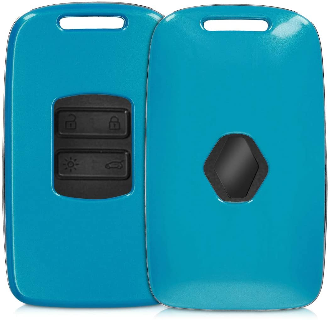 kwmobile Key Cover Compatible with Renault - Blue