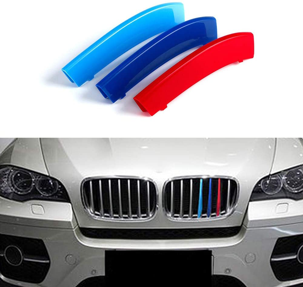 carado Front Grille Grill Cover for BMW X6 E71 E72 2008-2011 M Color Insert Trim Clips 3Pcs (7 Grilles)