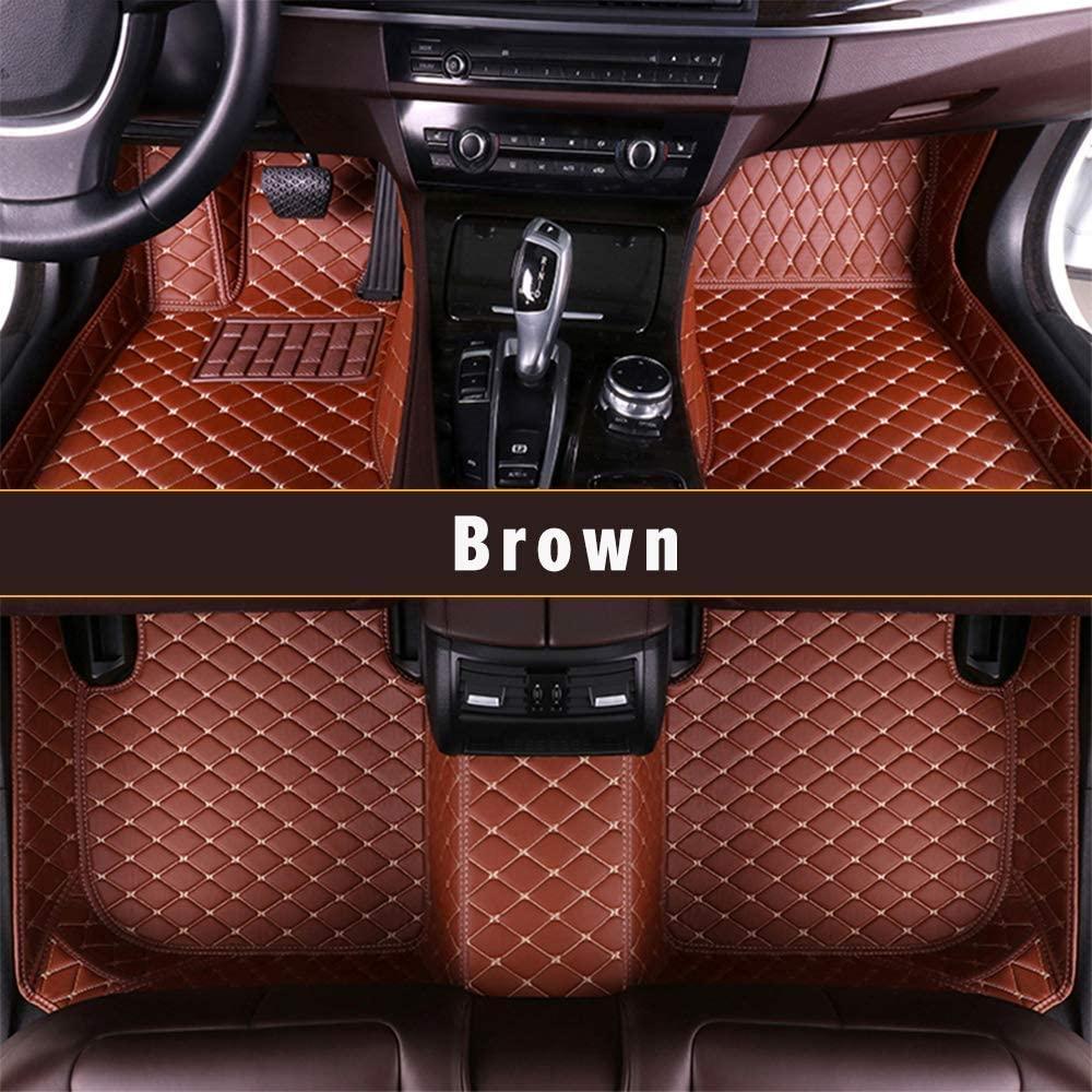 Longzhimei Custom Car Floor Mats for Land Rover Range Rover Sport 5-seats 2014-2019 Car Interior Accessories Full Covered Leather Front & Rear Waterproof Car Carpet FloorLiner Floor Mat Brown