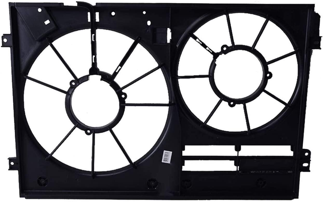 Bapmic 1K0121205AD Cooling Fan Shroud for Volkswagen Tiguan Jetta Passat Golf Audi TT A3