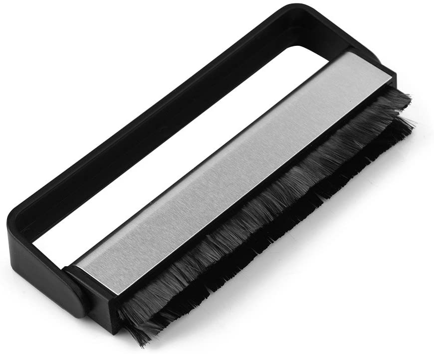 Sanpyl Anti-Static Record Cleaning Brush, Vinyl Cleaning Carbon Fiber Record Brush Dust Remover