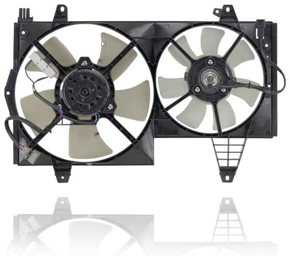 Dual Radiator and Condenser Fan Assembly - DEPO 621250 For/Fit 00-04 Volvo S40 V40 - Old Style - 308220359