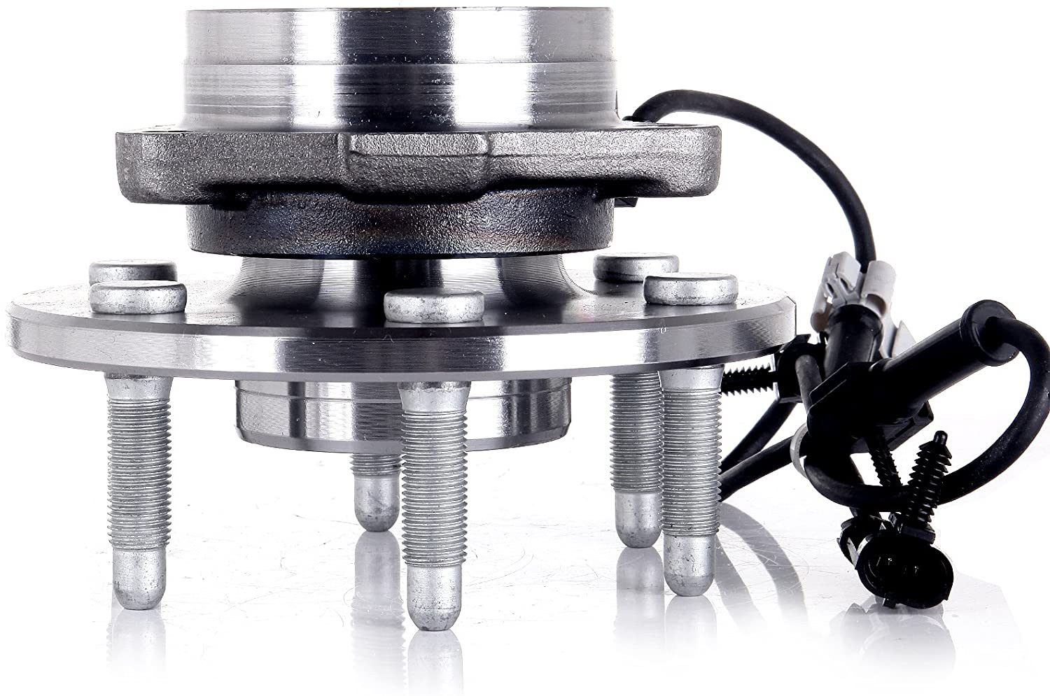 SCITOO Wheel Bearing and Hub Assembly for 4WD ONLY Cadillac Escalade GMC Yukon XL 1500 1999-2006 Chevrolet Silverado 1500 Compatible for 515036 Front 6 bolts W/ABS 1 pack