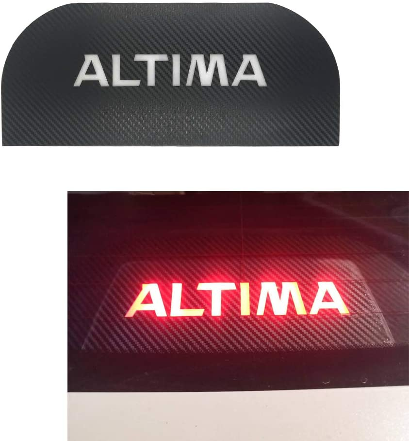 MAXDOOL Car High Brake Light Sticker Acrylic Projection Board Decal Top Tail Light Stickers Car High Mounted Decorative Emblems for Nissan Altima