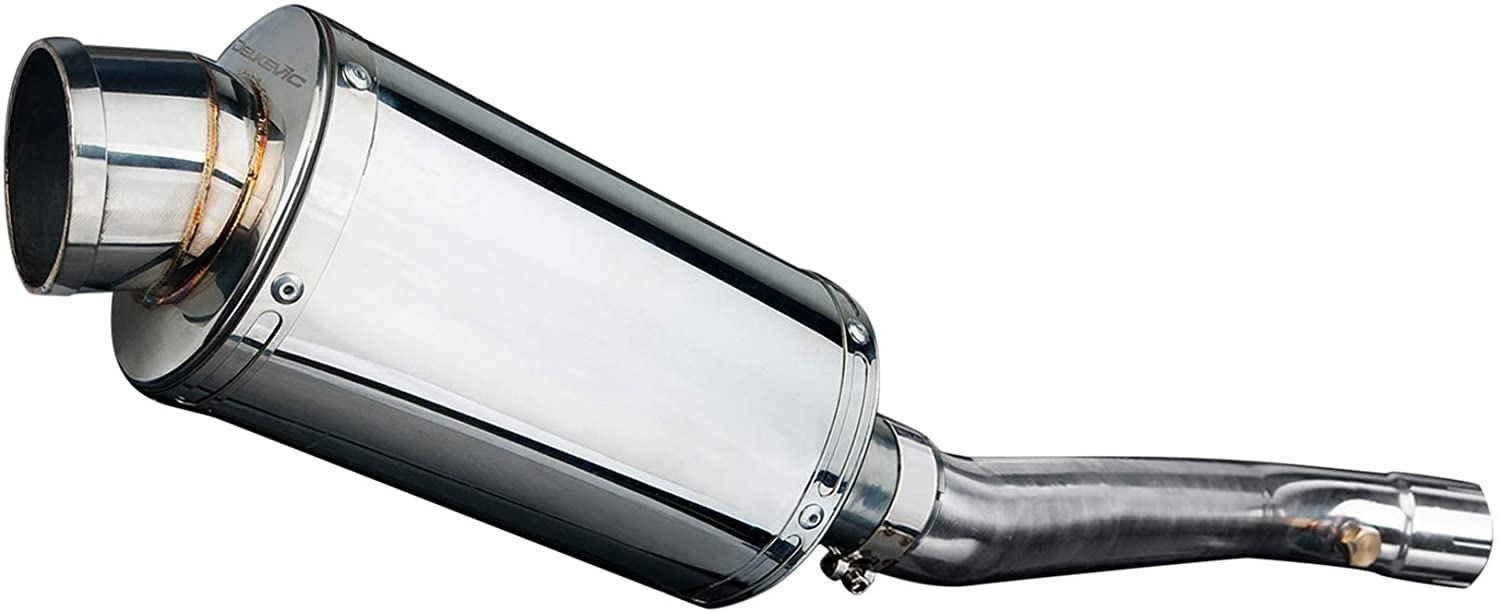 Delkevic Aftermarket Slip On compatible with Kawasaki ZX-10R Ninja SS70 9