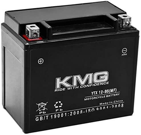 KMG 12V Battery for Honda 200 TRX200SX FourTrax 1986-1988 YTX12-BS Sealed Maintenance Free Battery High Performance 12V SMF Replacement Powersport Battery