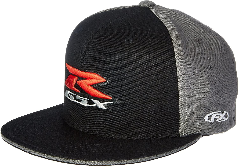 Factory Effex 15-88446 Suzuki 'GSXR' Flex-Fit Hat (Black, Small/Medium)