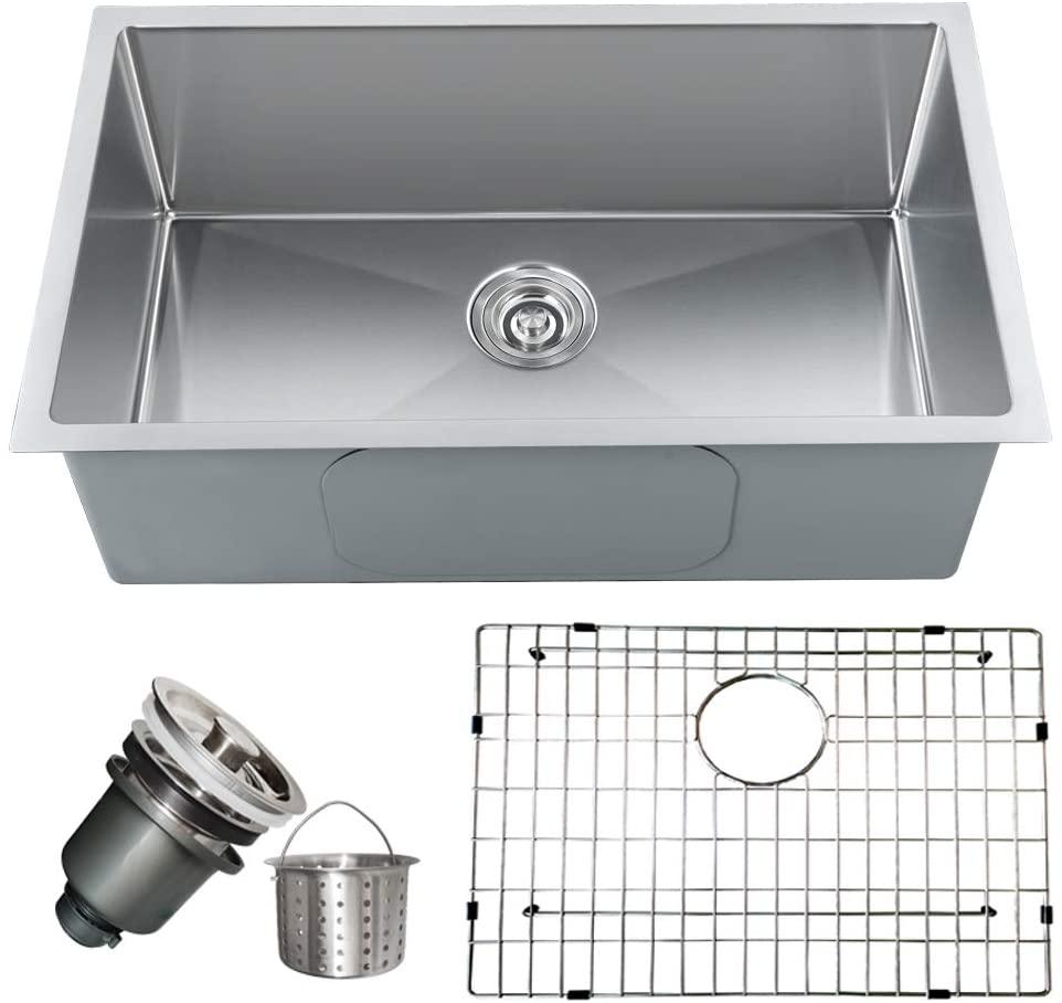 Single Bowl Undermount Kitchen Sink,30-Inch,16 Gauge 304 Stainless Steel - 30