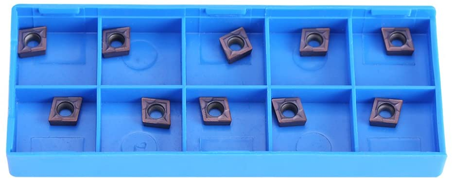Zopsc 10pcs CNC Carbide Tips Inserts CCMT060204 VP15TF Carbide Cutter Blade Lathe Turning Tool with Box