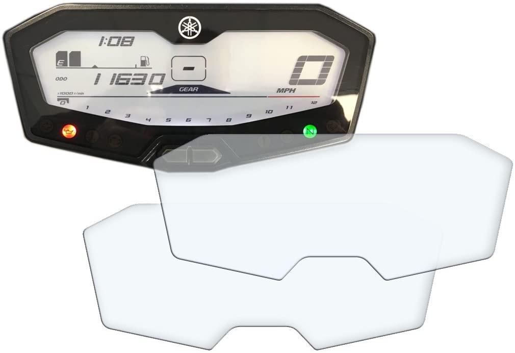Speedo Angels Dashboard Screen Protector for YAMAHA MT-07 / FZ-07/700 TRACER (2014+) - 1 x Ultra Clear & 1 x Anti Glare