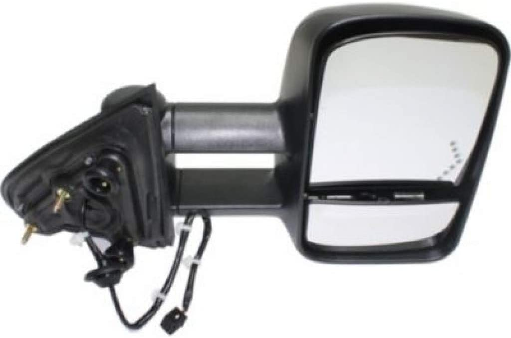 For Chevy Silverado 2500 HD / 3500 HD Mirror 2015-2018 Passenger Side Manual Folding   Power   Heated   Trailer Towing   w/Signal Light   All Cab Types   Textured Black GM1321458   22820398