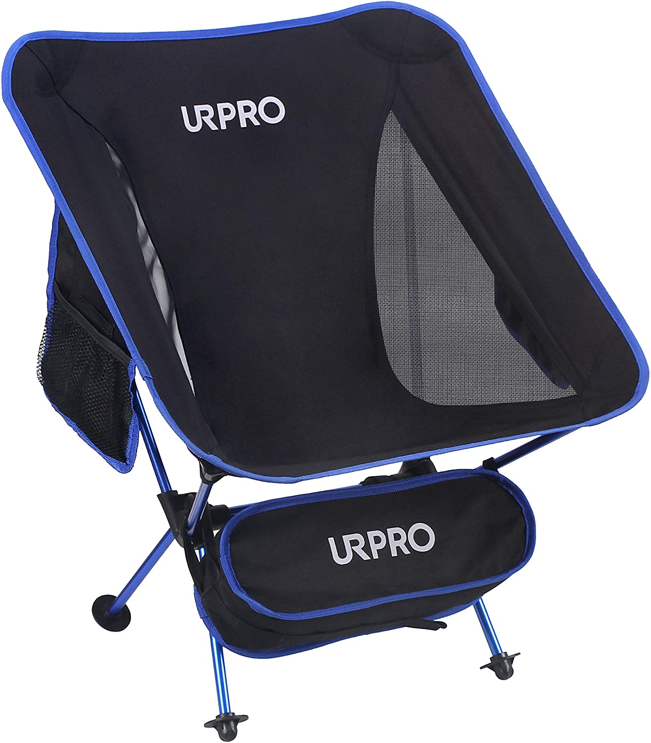 URPRO Outdoor Ultralight Portable Folding Chairs with Carry Bag Heavy Duty 145kgs Capacity Collapsible Chair Camping Folding Chairs Beach Chairs …