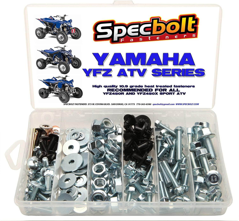 150pc Specbolt Yamaha Bolt Kit YFZ 450 YFZ450 ATV for Maintenance Upkeep & Restoration OEM Spec Fasteners ATV Quad