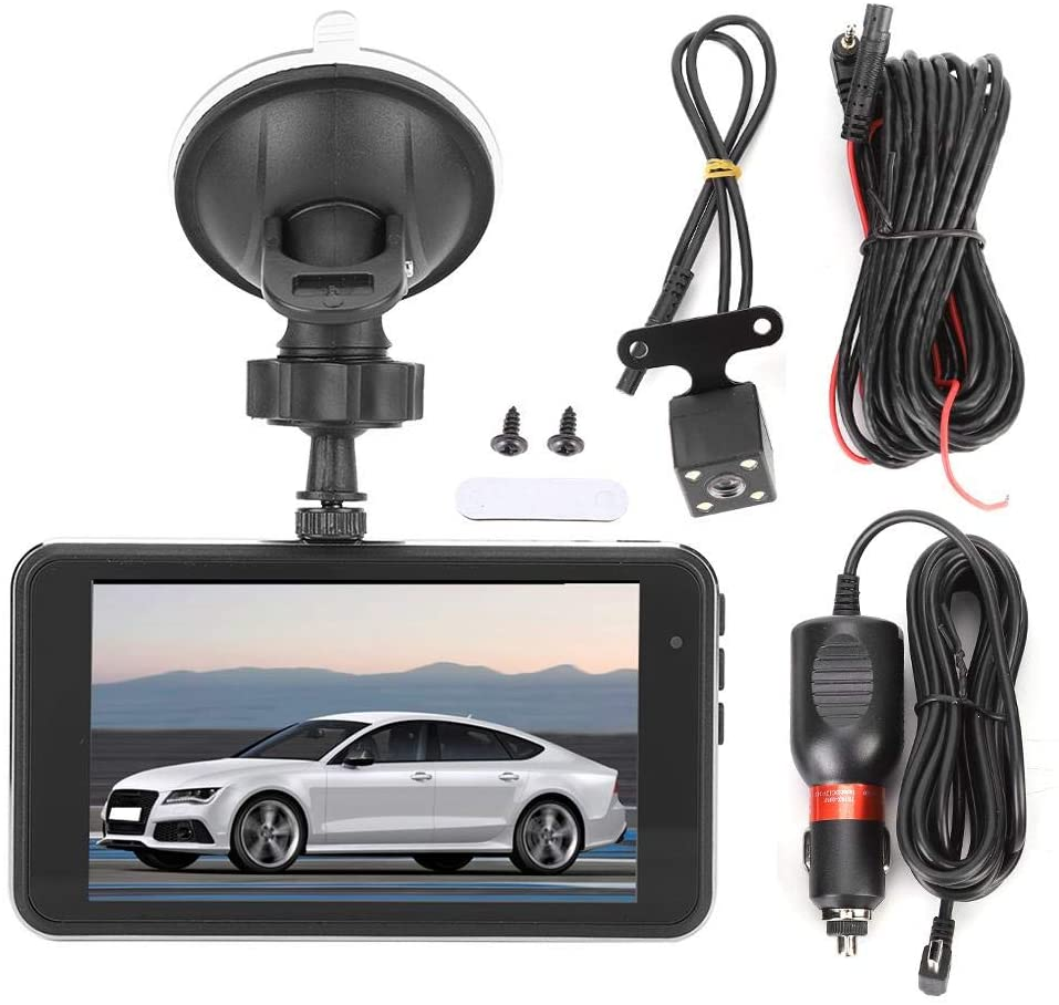Car DVR Dashboard Camera, Auto Car 4in 1080P DVR 170° Wide Angle Night Vision Video Recorder Dash Cam