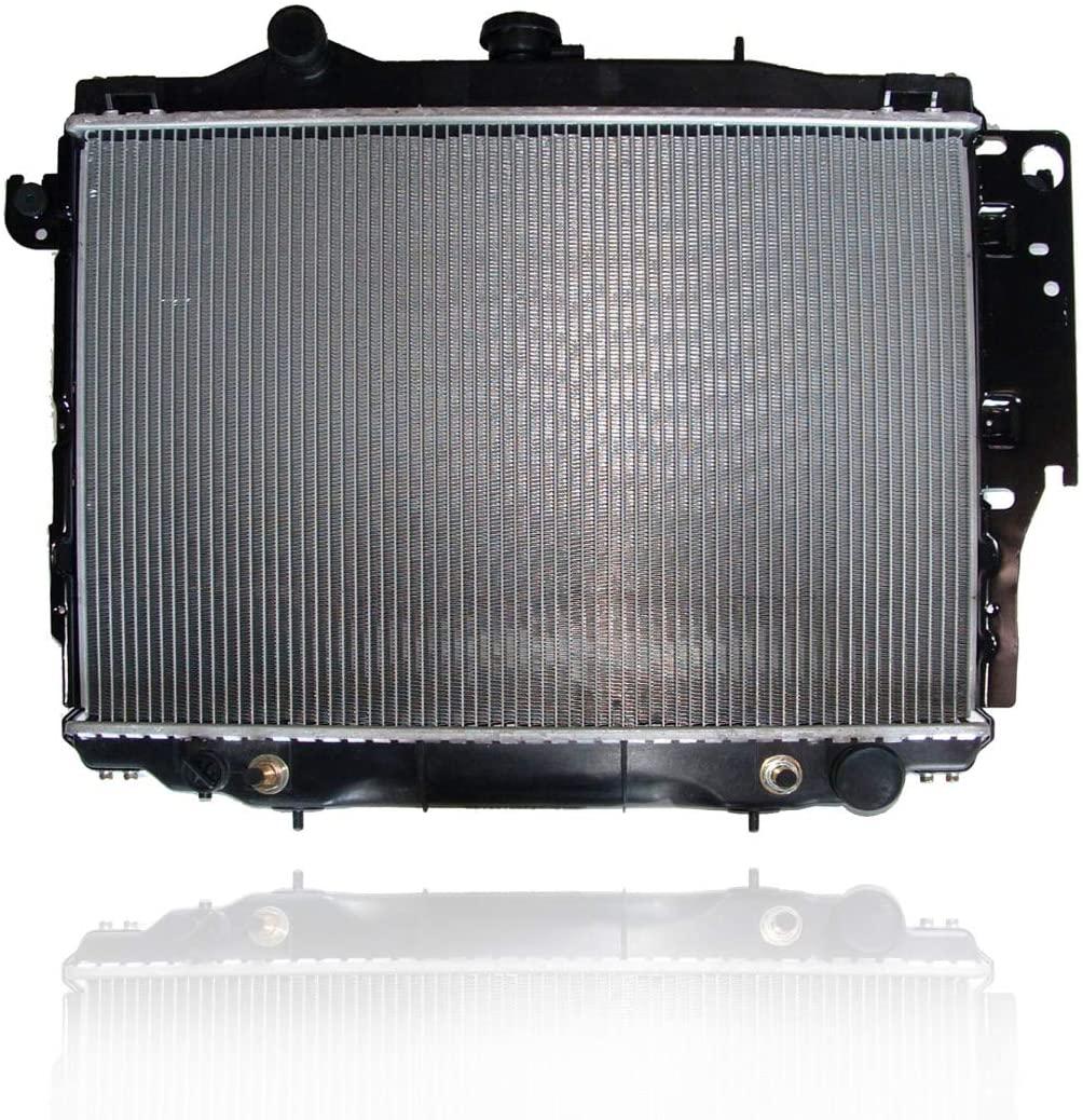Radiator - PACIFIC BEST INC. For/Fit 92-93 Dodge Dakota Pickup V6/3.9L V8/5.2L - With Air - Plastic Tank, Aluminum Core - 4401728
