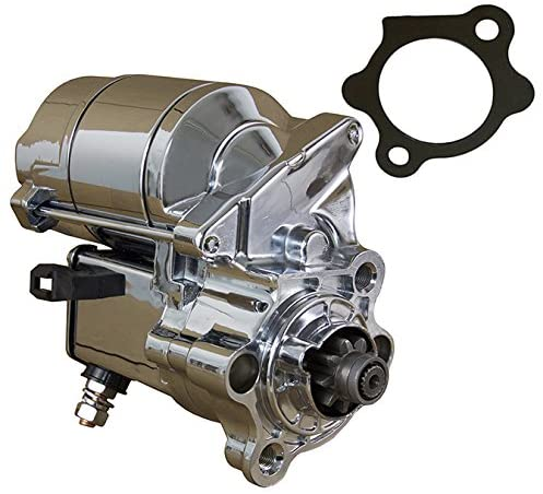Rareelectrical CHROME STARTER COMPATIBLE WITH 1981-2012 HARLEY DAVIDSON SPORTSTER 31390-91 31390-91A 31390-91B