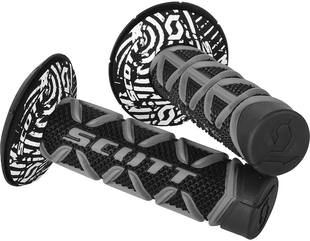 Scott Diamond Off-Road/Dirt Bike Motorcycle Hand Grips - Grey/Black/One Size