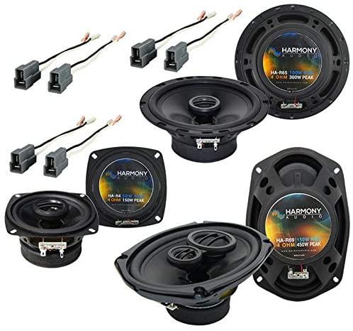 Harmony Audio HA-R5 Speakers Bundle with Harmony Audio HA-R4, Harmony Audio HA-R69 Compatible with Dodge Colt Vista 1992-1994 Factory Speaker Upgrade