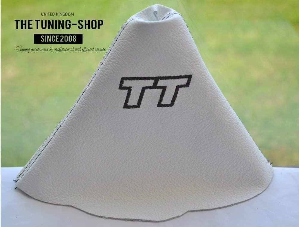 The Tuning-Shop Ltd Shift Boot White Leather with Black Tt Edition