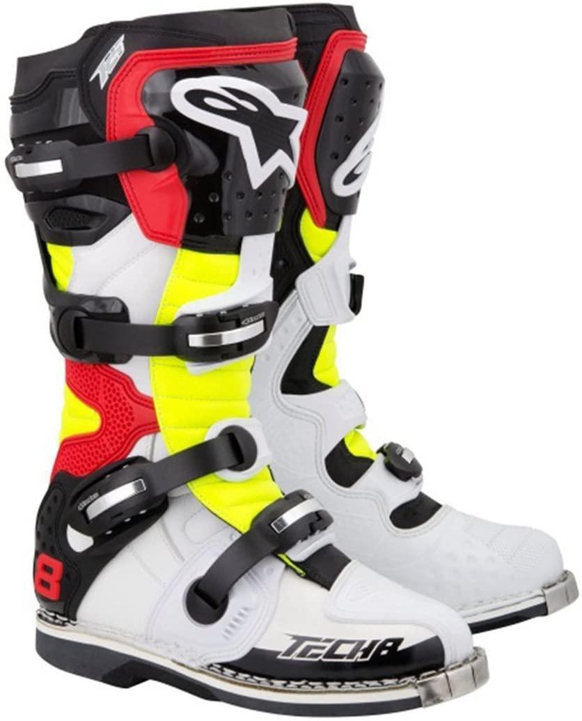 Alpinestars Men's Tech 8 RS Motocross Boot, Black/Red/Yellow, 14