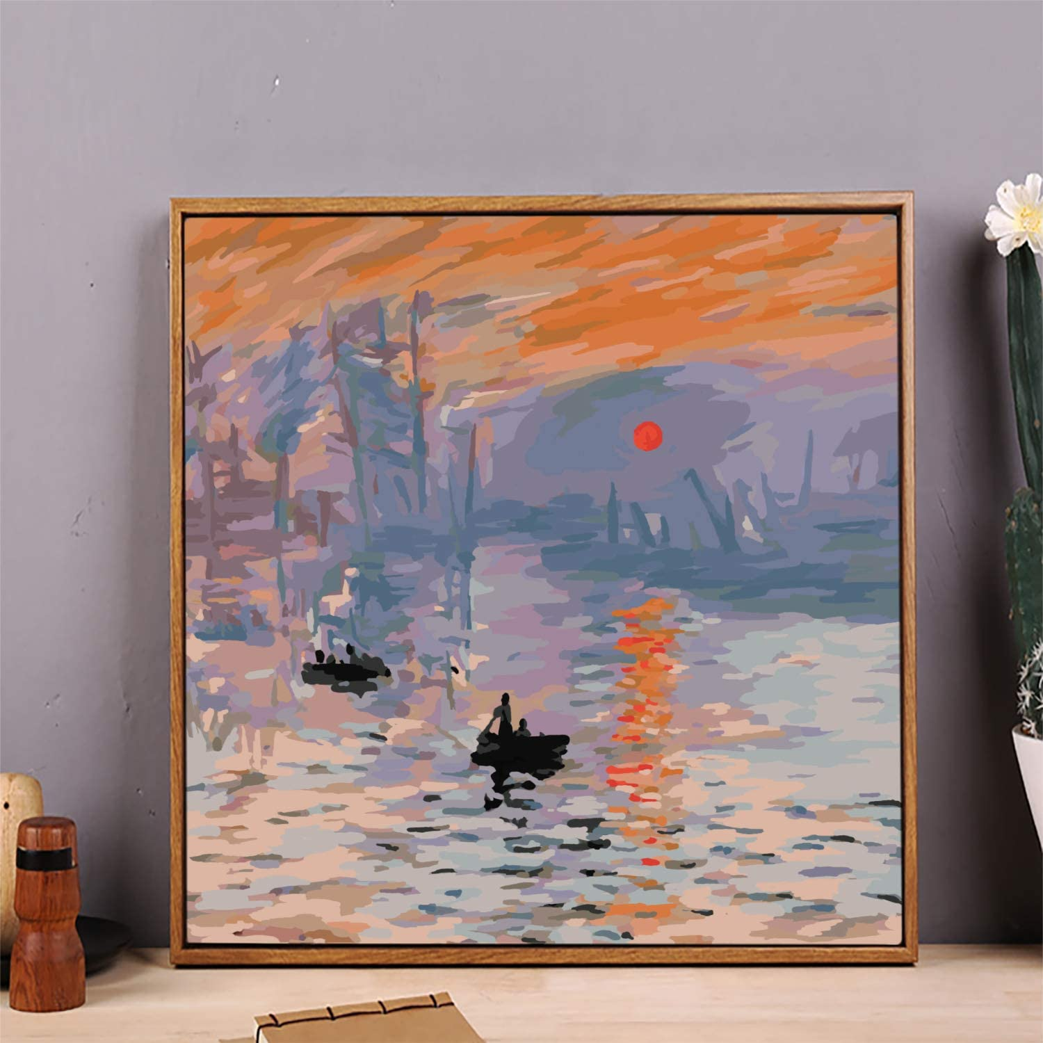 Paint by Numbers Kit for Adults Kids Beginners Without Frame Paint by Numbers DIY 16x 20 inch DIY Painting Number Adult Acrylic Sunrise