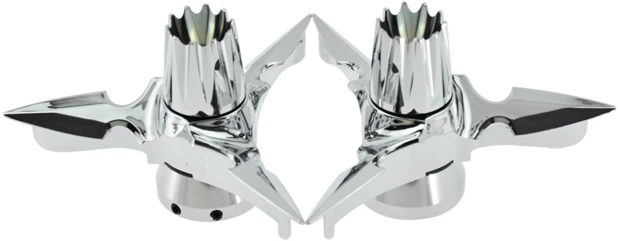 Rebacker Motorcycles Alxe Cover Spun Blade Spinning Axle Caps Cover for Harley 29.5MM Street Glide,Silver