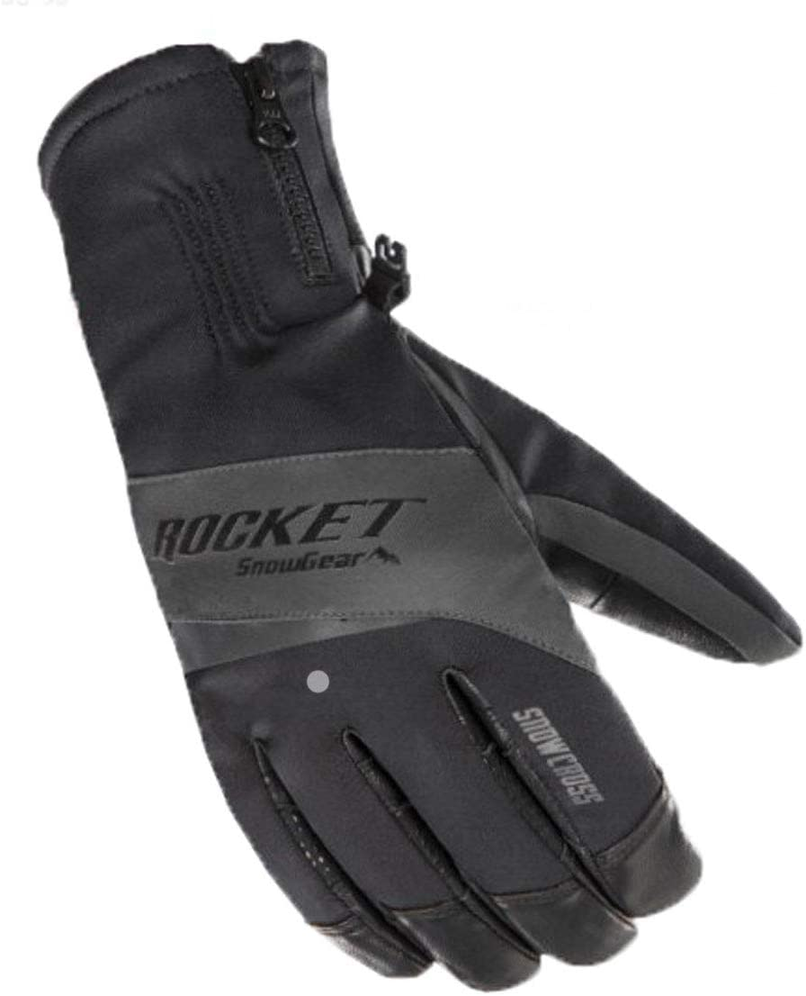 Joe Rocket Snowcross Men's Snowmobile Gloves - Black/Grey / 2X-Large