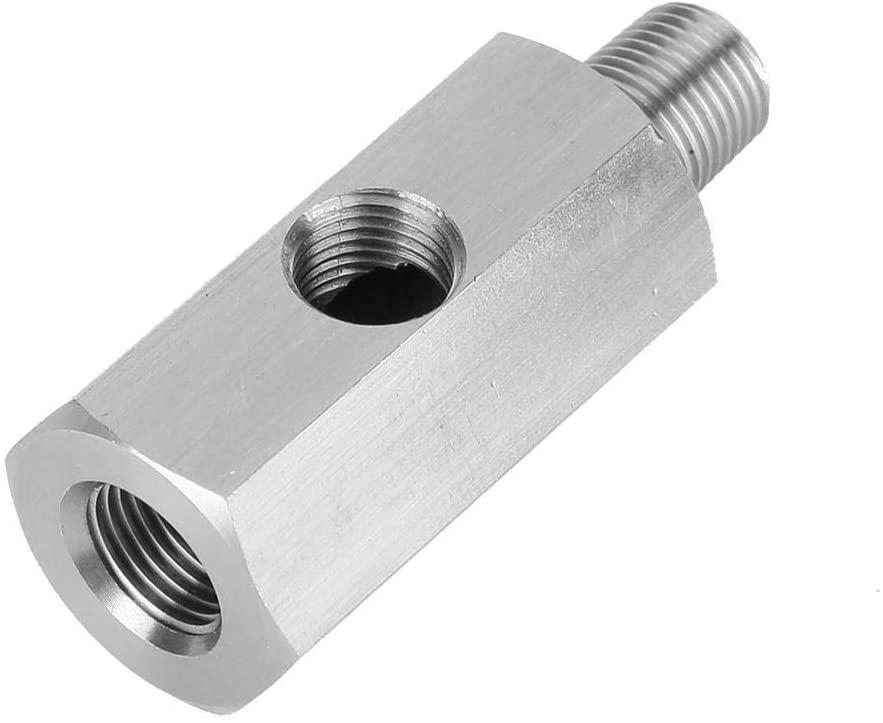 Oil Pressure Sensor Adapter, M10 Oil Pressure Gauge Tee to NPT Adapter Stainless Steel Turbo Supply