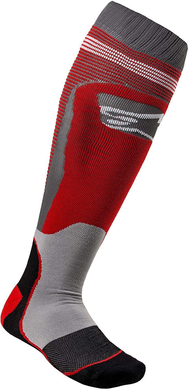 Alpinestars Men's MX PLUS-1 Socks, Red/Gray, Medium