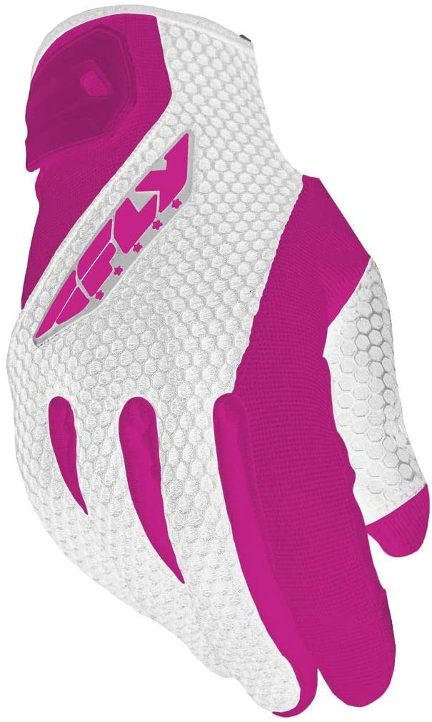 Fly Racing Street Women's Coolpro II Gloves (X-Large) (White/Pink)